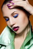 Donna con volto di arte Fotografia Stock Libera da Diritti