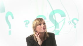 Donna confusa archivi video