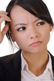 Donna confusa di affari Immagini Stock