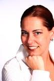 Donna corporativa felice Immagine Stock