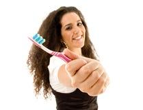 Donna cosciente per cura dentale immagini stock libere da diritti