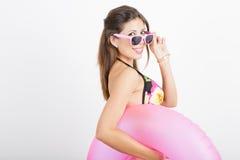 Donna in costume da bagno Fotografia Stock