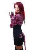 Donna in costume del gatto Fotografia Stock Libera da Diritti