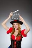 Donna in costume del pirata Immagini Stock Libere da Diritti
