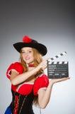 Donna in costume del pirata Fotografia Stock Libera da Diritti