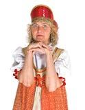 Donna in costume russo Fotografie Stock Libere da Diritti