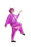 Donna in costume straniero Immagini Stock