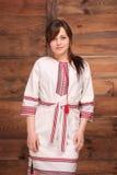 Donna in costume ucraino tradizionale Fotografia Stock Libera da Diritti