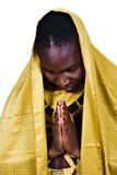 Donna cristiana africana Fotografia Stock Libera da Diritti