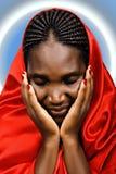 Donna cristiana africana Fotografia Stock