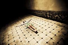 Donna Crucified Immagini Stock