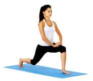 Donna d'allungamento in buona salute adatta Immagini Stock