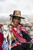 Donna da Cusco, Perù Fotografie Stock