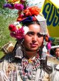 Donna da Dah & da Hanu al festival del ladakh Immagine Stock