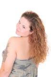 Donna dai capelli lunghi 20s Fotografia Stock Libera da Diritti