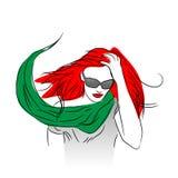 Donna dai capelli rossa royalty illustrazione gratis