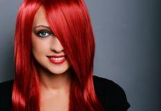 Donna dai capelli rossi Immagini Stock