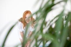 Donna dai capelli rossi Fotografia Stock