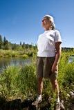 Donna dal fiume fotografie stock