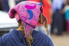 Donna dal gruppo etnico del meticcio in Otavalo, Ecuador immagine stock libera da diritti