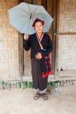 Donna dal Laos, gruppo etnico Phu Noy Immagini Stock Libere da Diritti