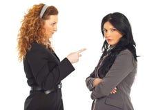 Donna degli impiegati di conflitto del gestore Immagini Stock