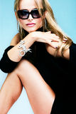 Donna degli occhiali da sole Fotografie Stock