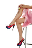 donna dei piedini Fotografia Stock