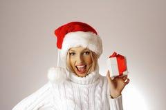 Donna del Babbo Natale Immagine Stock Libera da Diritti