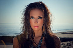 Donna del bikini fotografie stock libere da diritti
