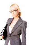 Donna del blonde di affari Immagini Stock Libere da Diritti
