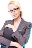 Donna del blonde di affari Fotografie Stock Libere da Diritti