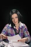 Donna del Brunette Immagine Stock
