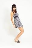 Donna del brunette di modo Fotografie Stock Libere da Diritti