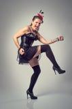 Donna del burlesque Fotografie Stock