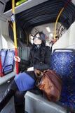 Donna del bus Fotografie Stock