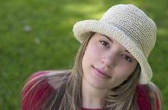 Donna del cappello fotografia stock