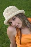 Donna del cappello Immagine Stock