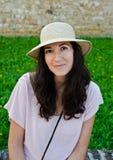 Donna del cappello immagini stock libere da diritti
