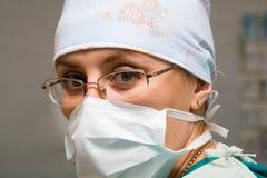 Donna del chirurgo Fotografie Stock Libere da Diritti