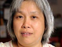 Donna del cinese di Middleage fotografie stock libere da diritti