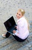 donna del computer portatile Immagine Stock Libera da Diritti