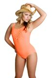Donna del costume da bagno fotografia stock