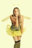 Donna del costume di Halloween immagini stock libere da diritti