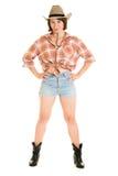 Donna del cowboy. Fotografie Stock Libere da Diritti