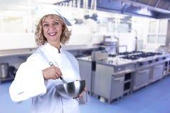 Donna del cuoco Fotografie Stock Libere da Diritti