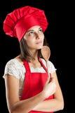 Donna del cuoco unico Fotografia Stock Libera da Diritti