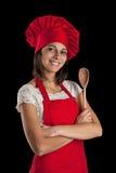 Donna del cuoco unico Fotografie Stock