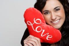 Donna del cuore di amore Fotografia Stock Libera da Diritti