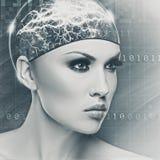Donna del cyborg fotografia stock